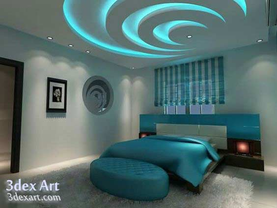 False Ceiling Designs 2018, Modern False Ceiling Design For Bedroom, Bedroom  Ceiling LED Lights