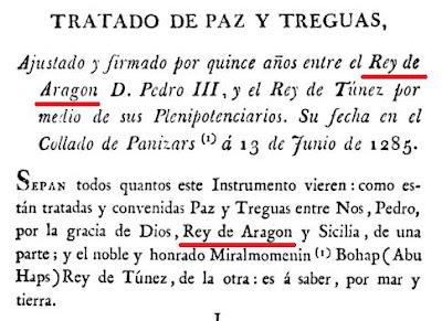 1285 entre Pedro III y el rey de Túnez