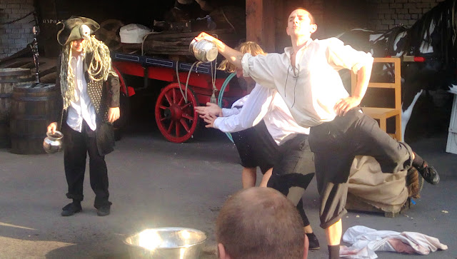 Cirque BIjou performing at the SS Great Britain