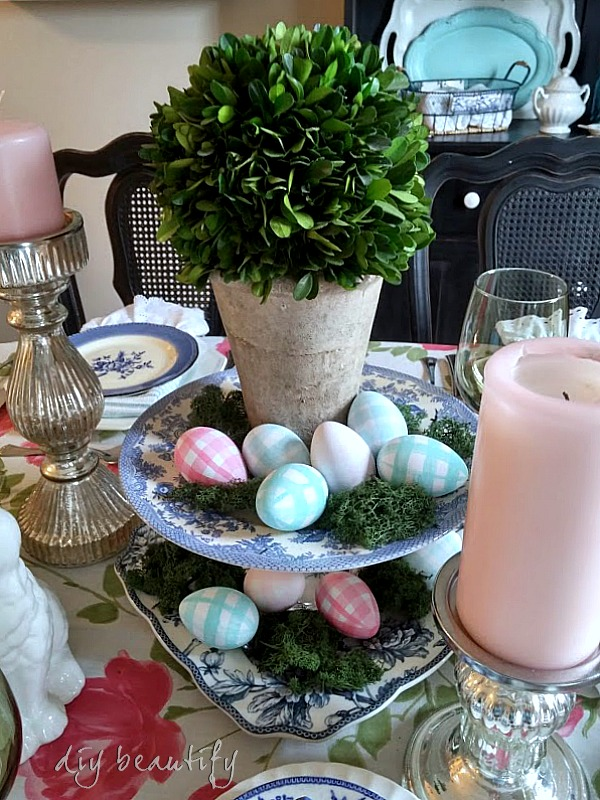 Easter table centerpiece DIY beautify