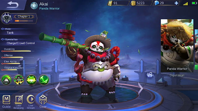 Tank Terkuat di Mobile Legends Season 11 Akai