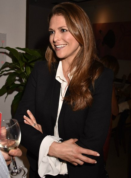 Princess Madeleine of Sweden and Christopher O'Neill attended a charity event at the San Lorenzo in London
