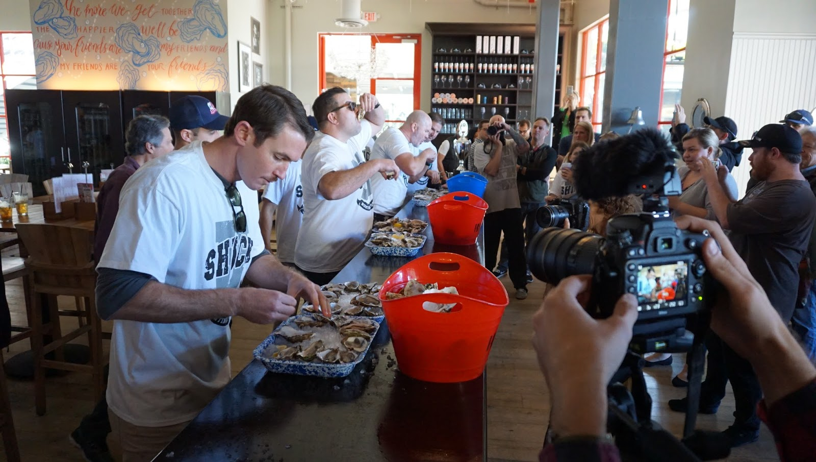 Ways and Means Oyster House Hosted A Successful Oyster Shucking Contest For Charity