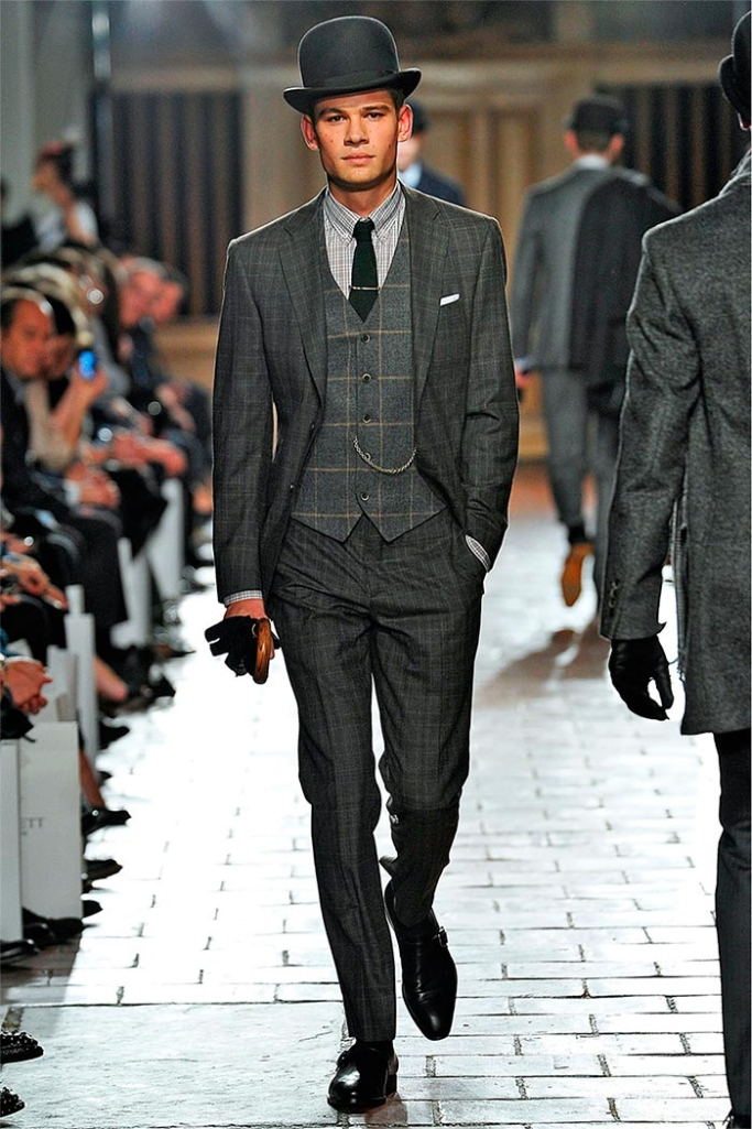 english gentleman style on catwalk