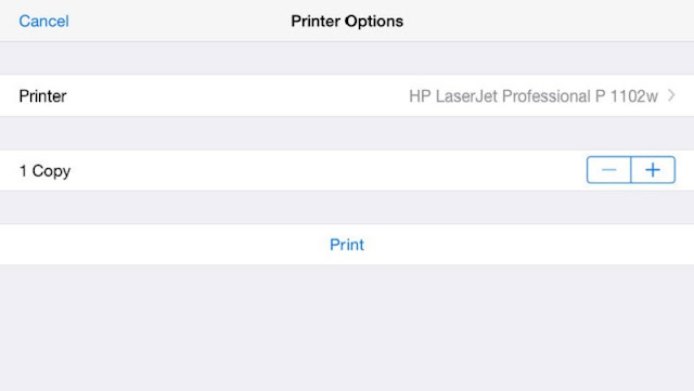 How to print from iPad or iPhone