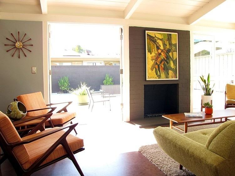 Kitten Vintage 10 Mid Century Beach Style Living Rooms