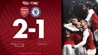 Arsenal vs Chelsea 2-1 Highlights Piala Liga Inggris