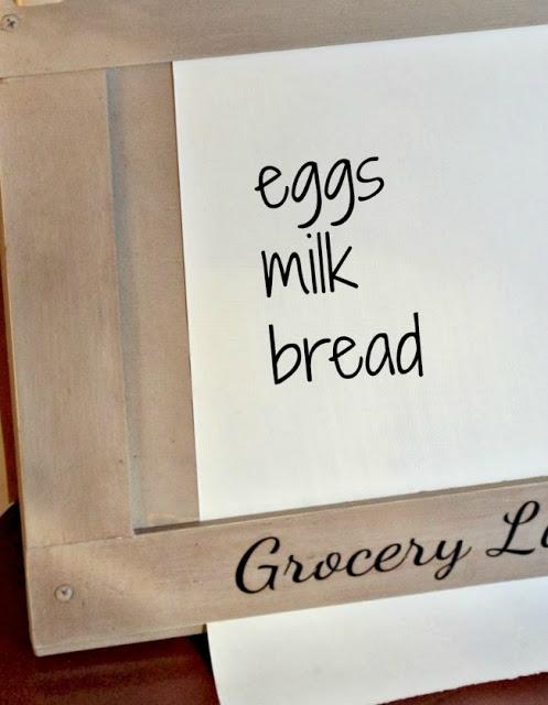 Custom Made Grocery List Roll