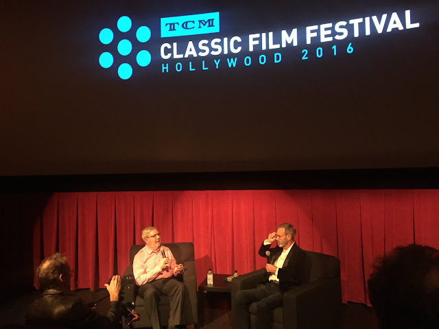 Leonard Maltin and Darryl Hickman at the TCM Classic Film Festival