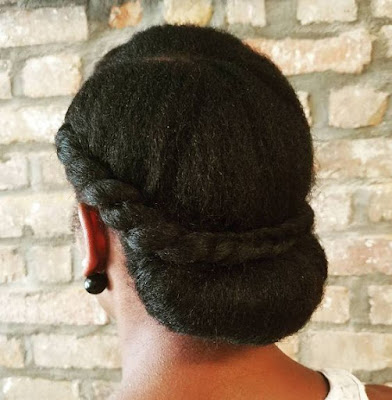 Click here to buy AS I AM TWIST DEFINING CREAM FOR HAIR for moisturized twists in your chignon