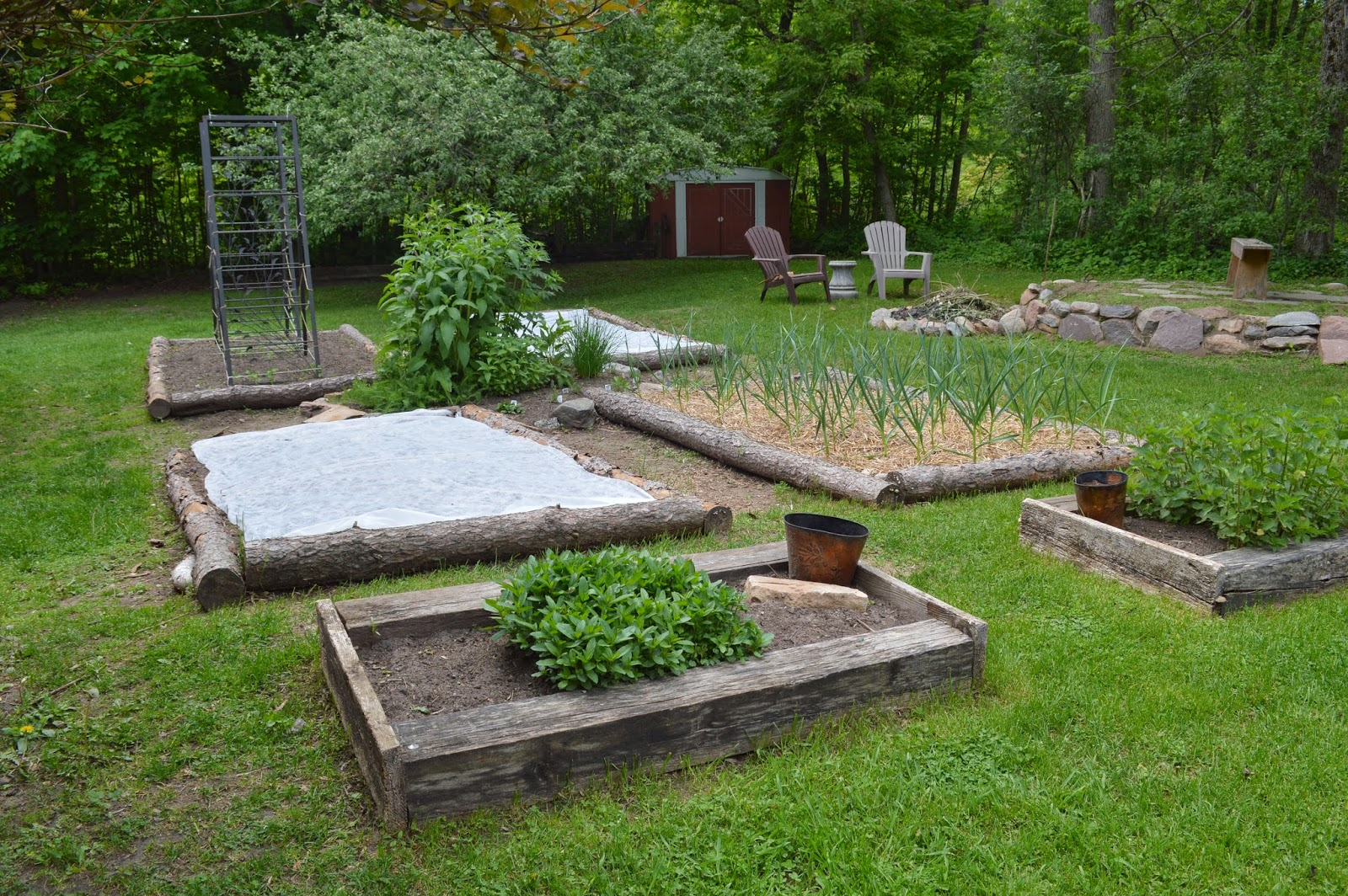 Mothering With Mindfulness Around The Garden