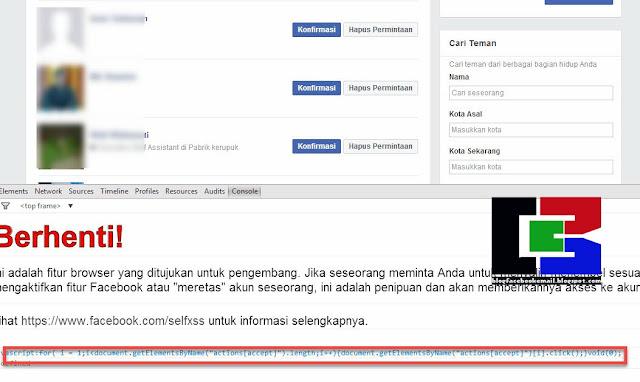cara menerima ribuan permintaan teman sekali klik