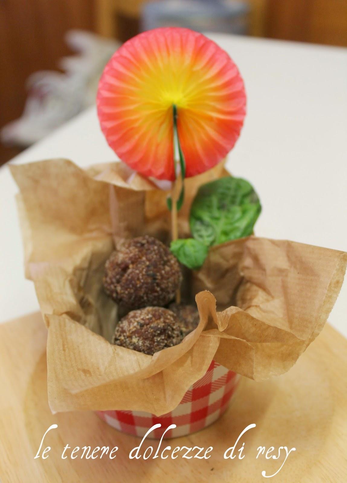 Finger Food Aperitivo Estivo le tenere dolcezze di resy: polpettine di melanzane - il