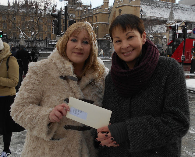Julie Howell with Caroline Lucas MP