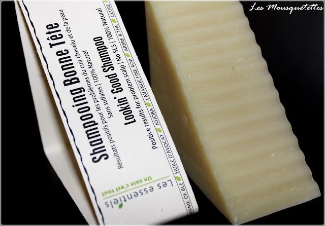 Shampoing solide Bonne Tête Les Essentiels - Les Mousquetettes©
