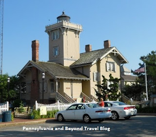 Hereford Inlet Lighthouse in North Wildwood New Jersey