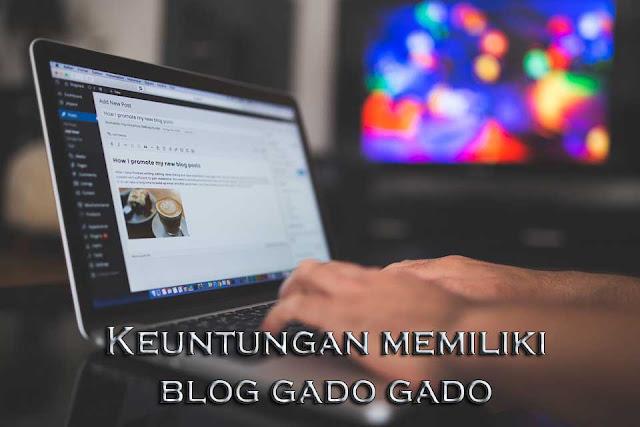 keuntungan memiliki blog gado