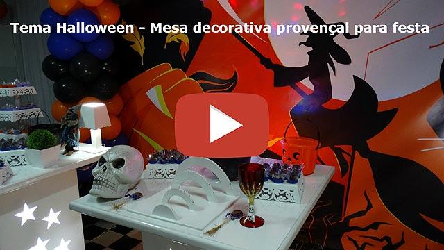 Vídeo: Decoração festa Halloween provençal