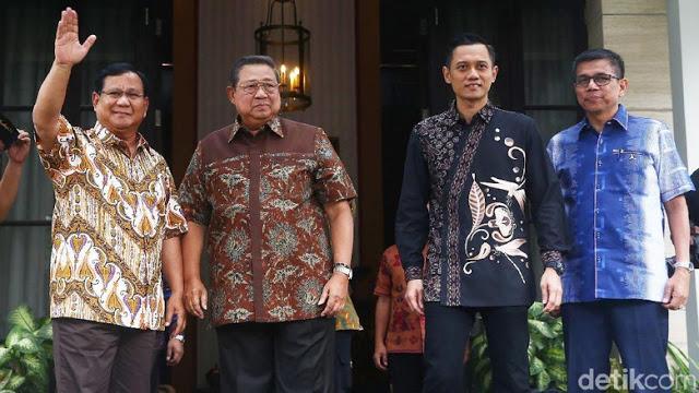 Usai Pertemuan, SBY Mengaku Ingin Prabowo Menang dan Demokrat Sukses