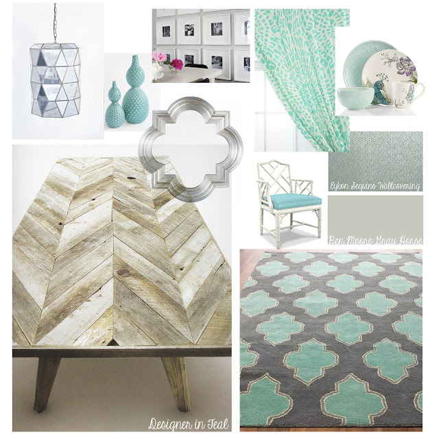 Designer In Teal Mood Board Dining Room