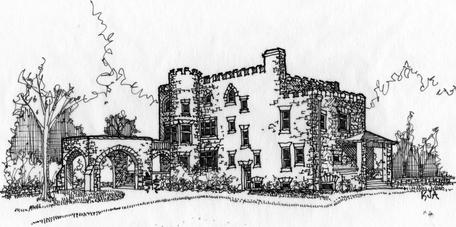 Hearthstone Castle Danbury, CT Sketch