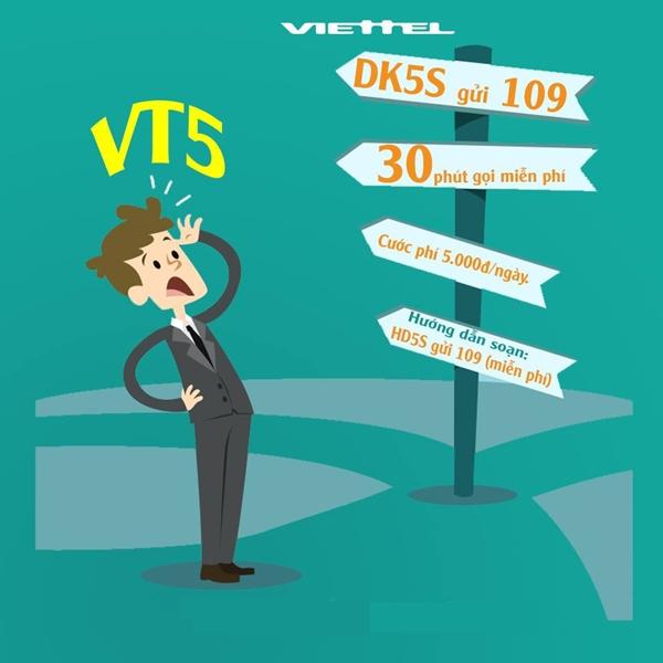 Gọi nội mạng thỏa mái với gói cước VT5 Viettel