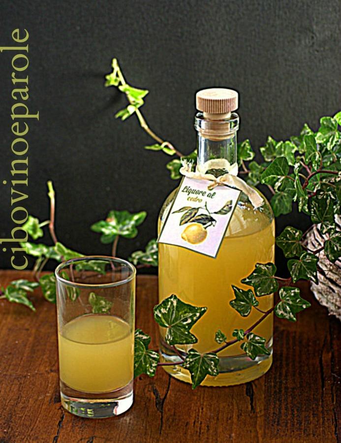 liquore con cedri ricetta
