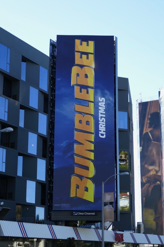Bumblebee movie logo billboard