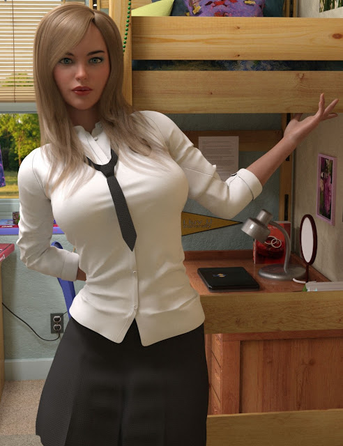 FG College Outfit for Genesis 8 Female