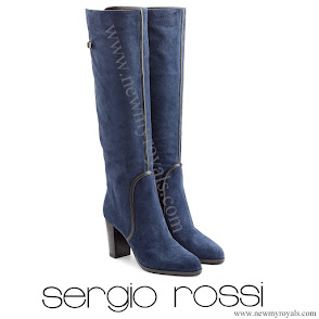 Queen Maxima Style SERGIO ROSSI Suede Knee Boots