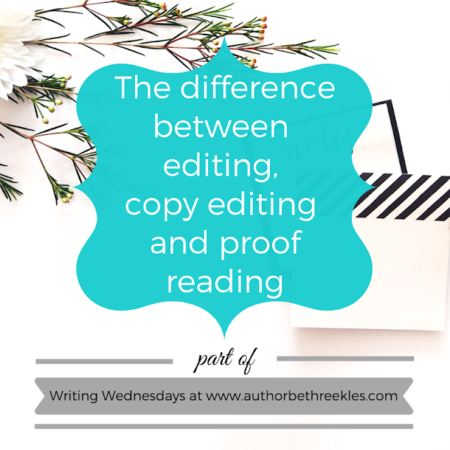 In this post, I explain the differences in the different stages of editing, including proof reading and copy editing.