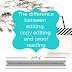 Writing Wednesdays: The difference between editing, copy editing and proof reading