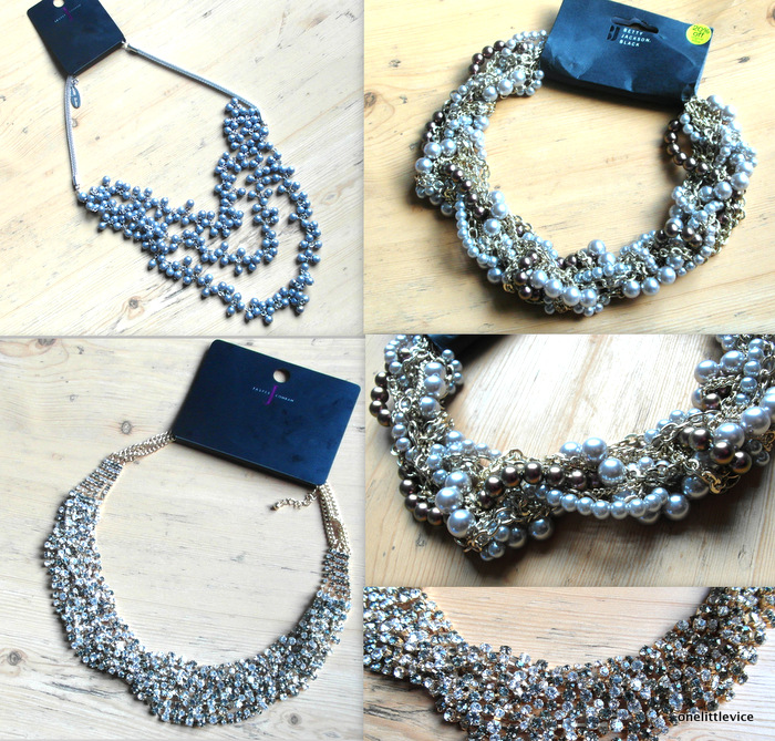 High street Winter party necklaces