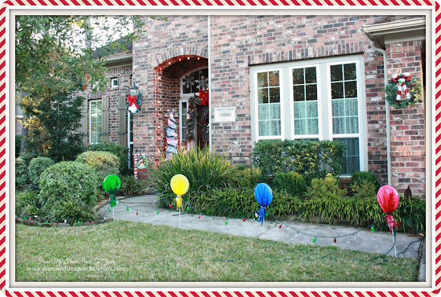 Lolli Pops in Yard-Christmas Front Porch-From My Front Porch To Yours
