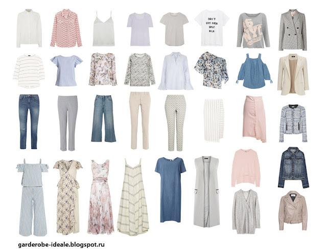 Вся одежда летнего капсульного гардероба