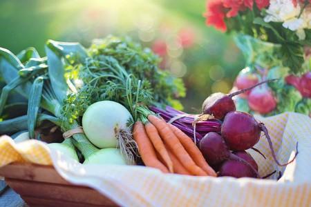 Remolacha, zanahorias y cebollas