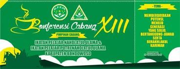Desain Stiker - Konferensi Cabang XIII IPNU & IPPNU Kabupaten Bondowoso