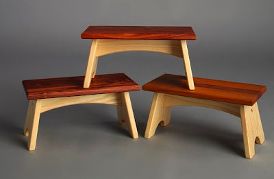 wood step stools- ash walnut, teak