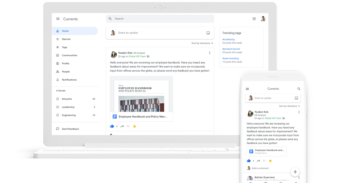 G Suite Updates Blog Introducing Currents The Newest G Suite App