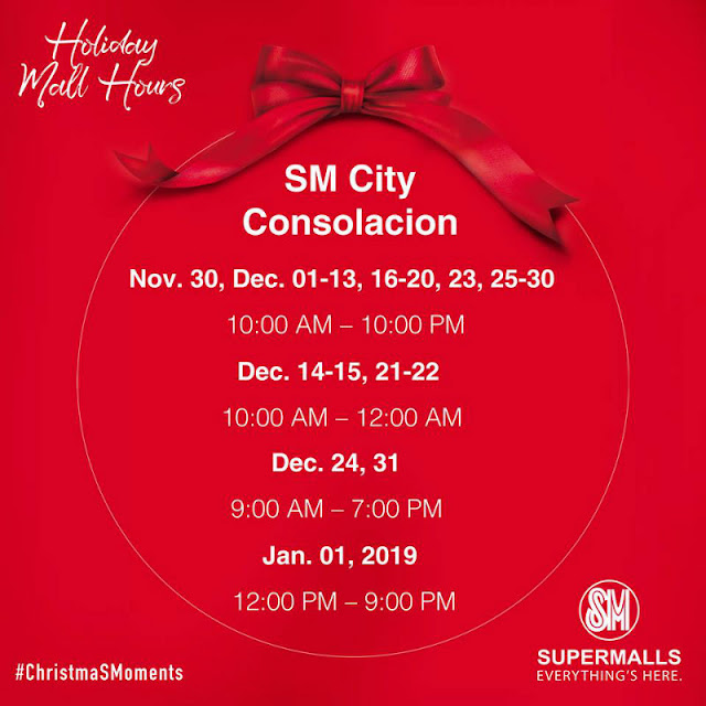 Holiday Mall Hours 2018 SM City Consolacion