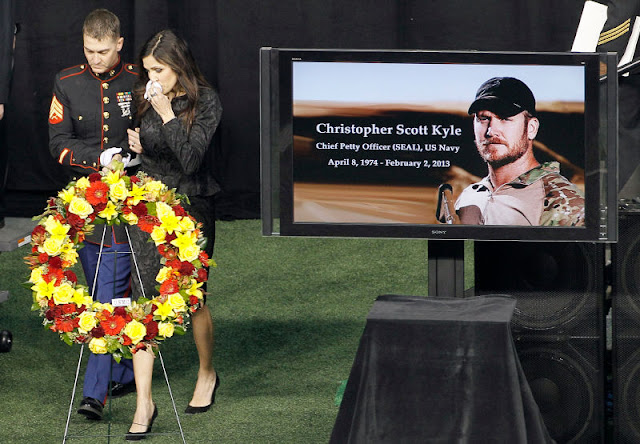 The real late Chris Kyle, known as a 'Legend' among his colleagues and their true hero