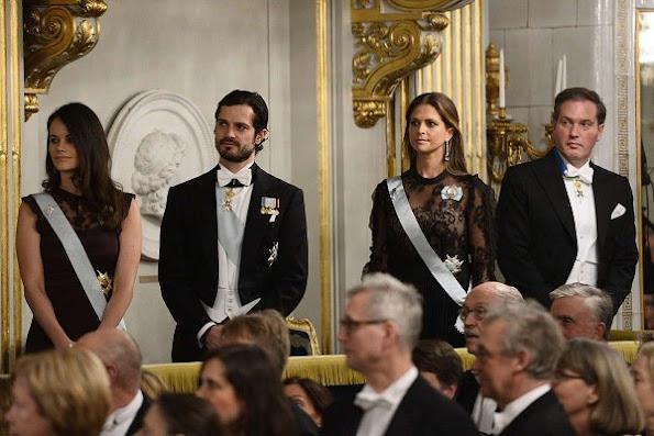 Princess Sofia wore Valentino gown, Princess Madeleine wore lace gown, Princess Victoria wore By malene Birger dress