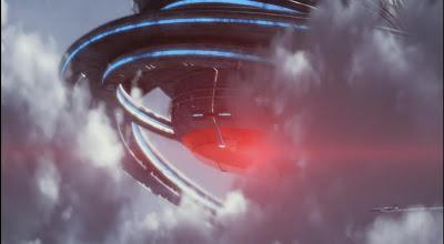 Defiance spaceship plane pictures pilot clouds