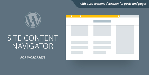 Site Content Navigator For WordPress v1.0