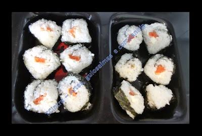 SUSHI MAKI; frutos do mar; comida japonesa