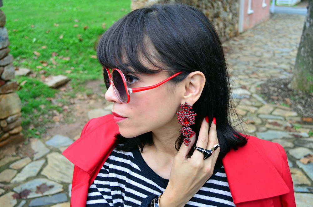 Givenchy red chandelier earrings