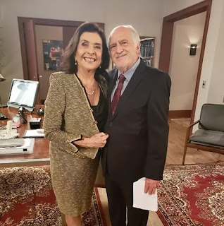 Betty Faria e Ary Fontoura gravam cena de 'Salve-se Quem Puder'