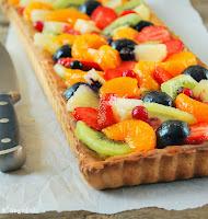 Tarta de frutas de verano