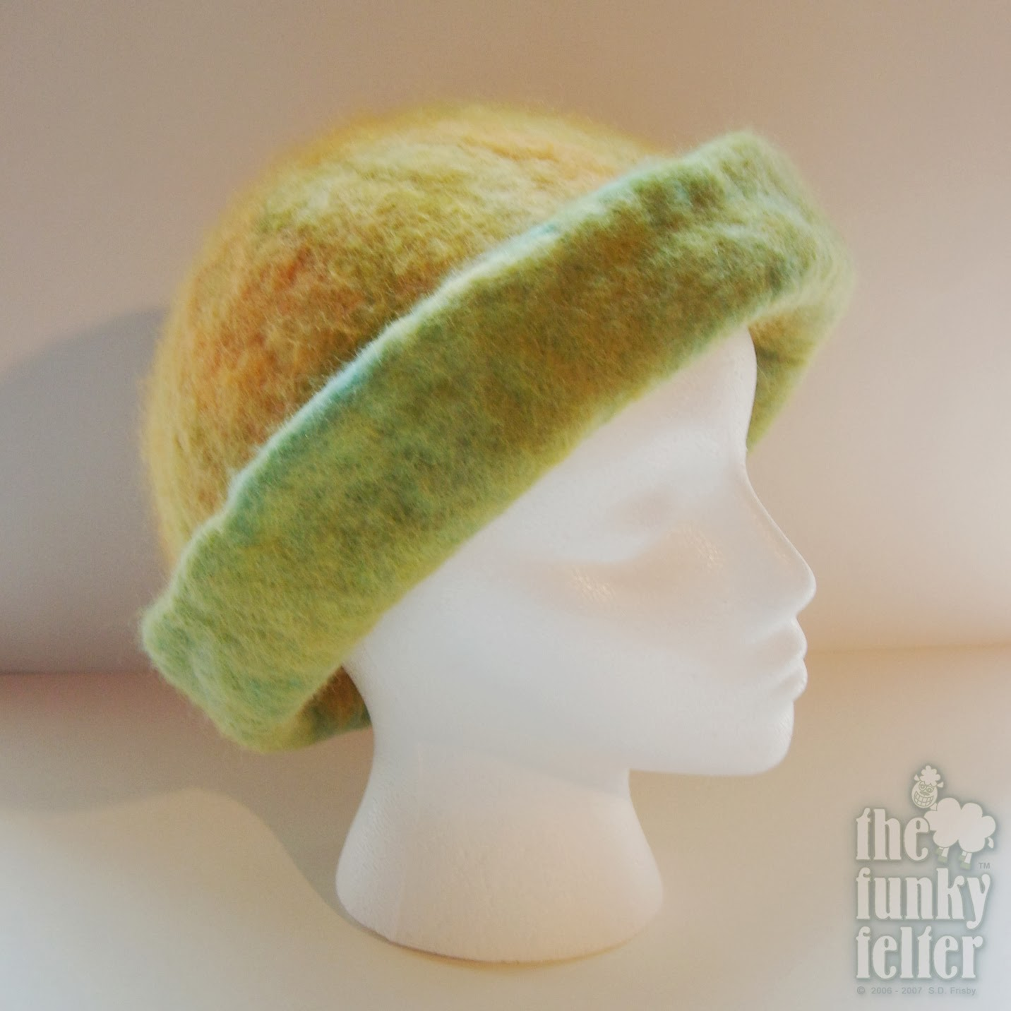 The Funky Felter  How To Make a Felted Hat - A Tutorial for Combined ... 85518e89cd2