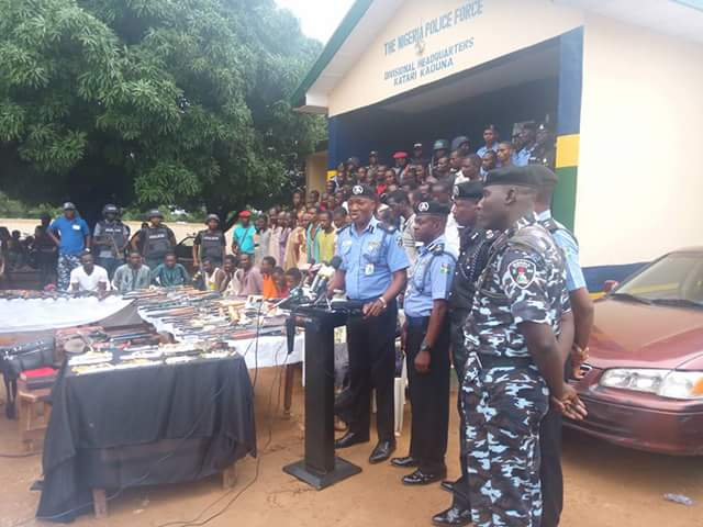 Police parade 56 vicious bandits, militia arrested in connection with killings in Birnin Gwari, Kaduna and Zamfara